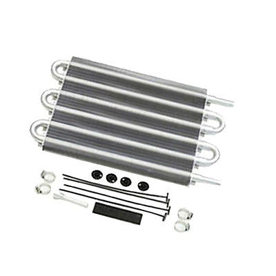 "Universal Aluminum Remote Transmission Oil Cooler,12-3/4"" x 7-1/2"" x 3/4"""