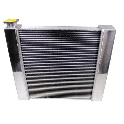 "For SBC BBC Chevy GM Fabricated Aluminum Radiator 21"" x 19"" x3""&Heavy Duty 16"" Radiator Cooling Fan"