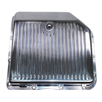 For GM Chevy Turbo 350 Polished Aluminum Transmission Pan Stock Capacity TH350