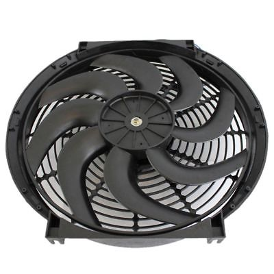 "2pcs 14"" Heavy Duty Electric Wide Curved Blade FAN 2000CFM Reversible /Thermostat"