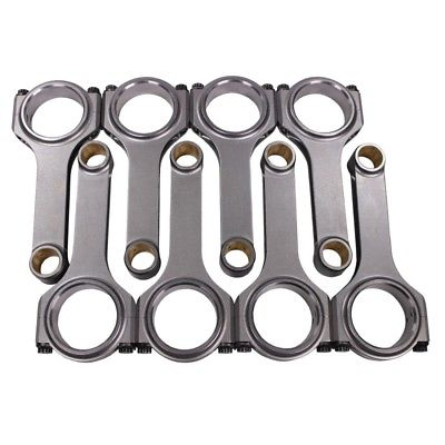 "H Beam 6.125"" 2.100"" .927"" Bronze Bush 4340 Connecting Rods Chevy"