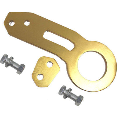 Billet Aluminum Racing Rear Tow Towing Hook Kit CNC Paint GOLD
