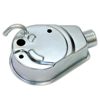 WHITE ZINC Square Power Steering Pump Reservoir for GM 1969 - Later Cars& Trucks