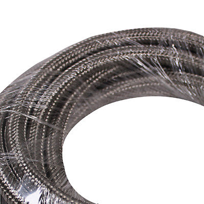 20 Feet 10-AN Braided Stainless Steel Turbo Oil Fuel Gas Line Hose 1500 PSI