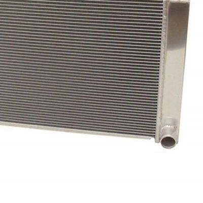 "For SBC BBC Chevy GM Fabricated Aluminum Radiator 22"" x 19"" x3"" & 16"" Chrome Straight Blade Cooling Fan"