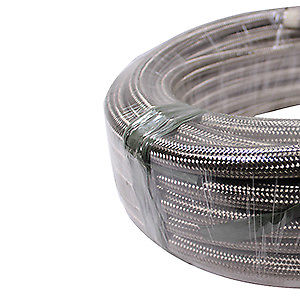 5 Feet 10-AN Braided Stainless Steel Turbo Oil Fuel Gas Line Hose 1500 PSI