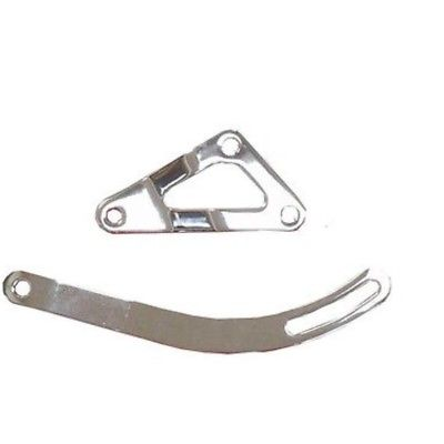 SB Chrysler 318-340-360 Chrome Top & Bottom Alternator Bracket Set