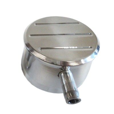 Round Polished Aluminum Ball Milled Valve Cover PCV Breather