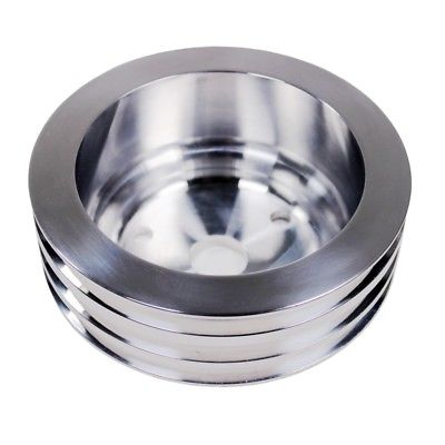 Chevy Big Blook Aluminum Crank Pulley, Long and Triple Groove.