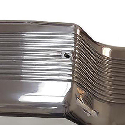 SBF Polished Aluminum Finned Front Sump Oil Pan Ford 65-77 260 289 302