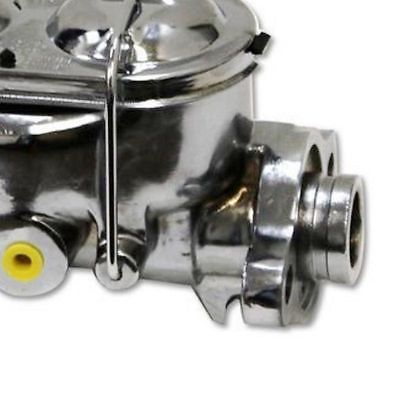 "11"" GM AC Delco Style Chrome Single Diaphragm Brake Booster & GM Chevy Chrome Cast Iron Dual Bail Cap Master Cylinder"