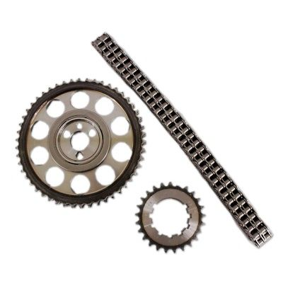Chevy BBC 454 Double Roller 9 Keyway Billet Steel Timing Chain Kit (Brs/Brg)