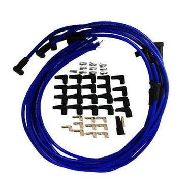 9.5 mm Blue 90 Degree Spark Plug Wires For Distributor Chevy BBC SBC SBF 302 350