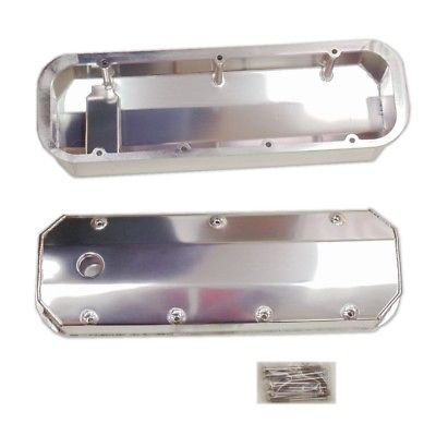 BBC CHEVY 454 Fabricated Aluminum Valve Covers Polished 427 Big Block Chevy 396