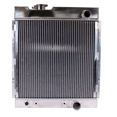 Tri Core Full Aluminum Race 3-Row Cooling Radiator for 64-66 Ford Mustang V8 I6 MT