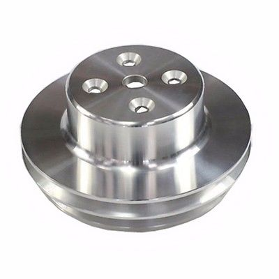 Chevy Big Blook Long and Triple Groove Aluminum Crank Pulley & Double Groove Long Water Pump Pulley