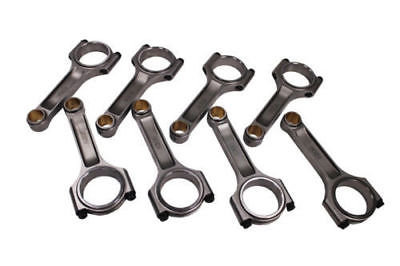 "I Beam Race 6.200"" 2.100"" .927"" Bronze Bush 4340 Connecting Rods Chevy SBC 350"