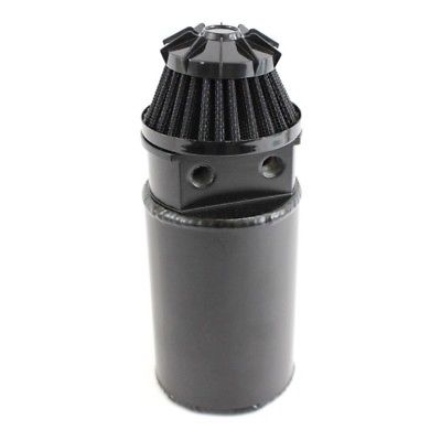 Black Polished Aluminum Oil Reservoir Catch Can Tank with Breather Filter