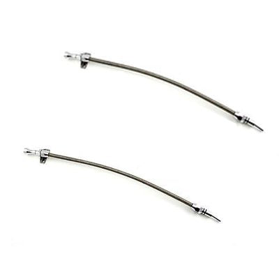 2pcs Flexible Stainless Steel Transmission Oil Dipstick Braided Tube for Chevy GM 700R4