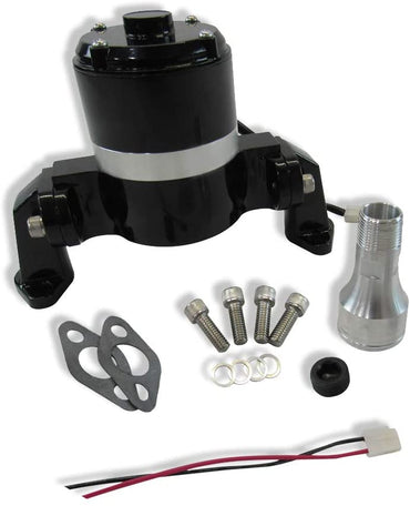 High Flow Electric Aluminum Water Pump for SBC 350 Chevy-Black