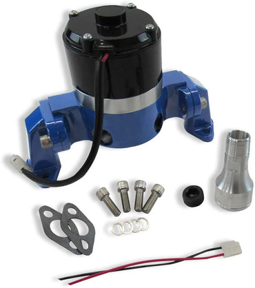 High Flow Electric Aluminum Water Pump for SBC 350 Chevy-Blue