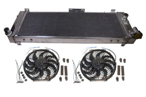 "For 91-01 Jeep 2.5/4.0 3-Row/Core Aluminum Radiator & 14"" Electric Cooling Fan"