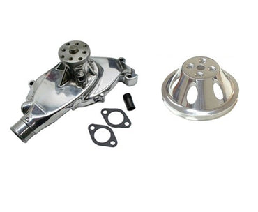 BBC chevy 396 427 454 short chrome aluminum water pump High Volume & 1 Groove SWP Short Water Pump Pulley