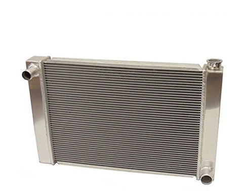 "SBC BBC Chevy GM Fabricated Aluminum Radiator 21"" x 19"" x3"" Overall With 2pcs 10 Inch Electric Fan"