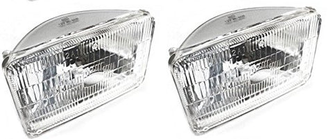 "5 3/4"" Clear Dot Tri bar H4 Headlights With 4x6"" Sealed HI/Low Beam Glass Head Lamp Set of 4"