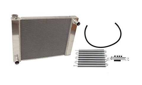 "Universal Ford / Mopar Fabricated Aluminum Radiator 31"" x 19"" x3"" Overall & Transmission Oil Cooler"