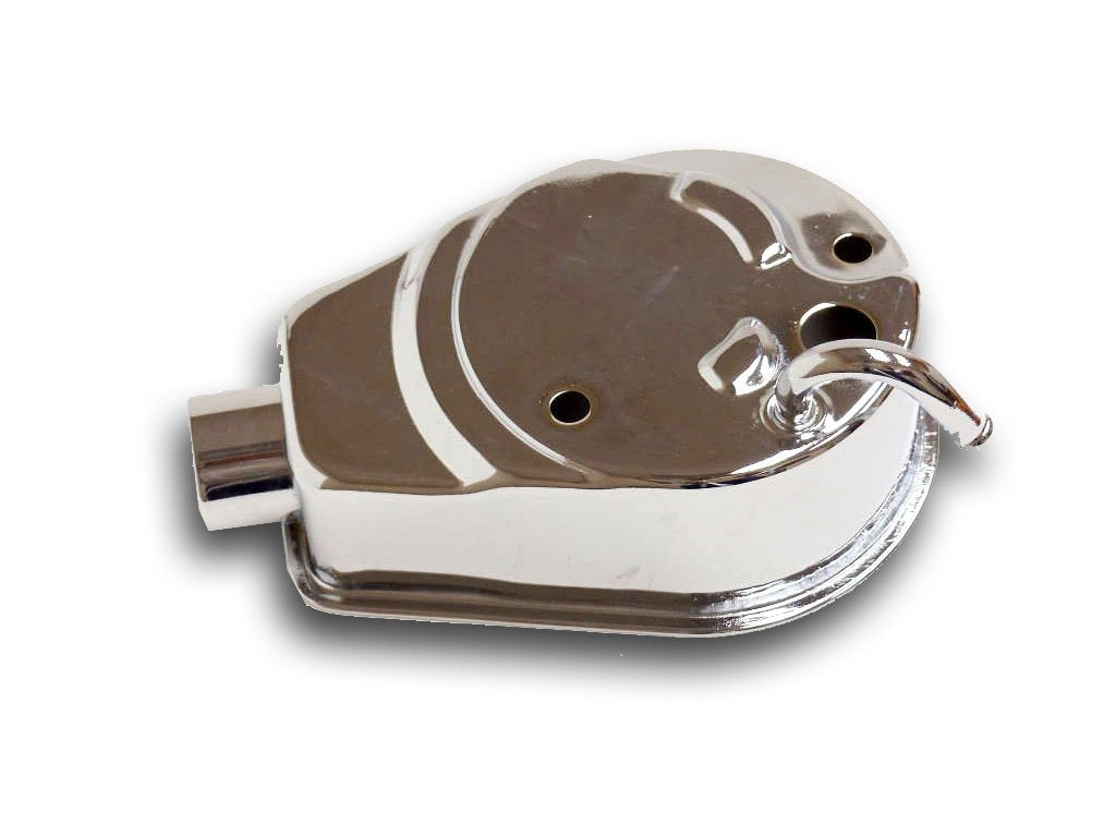Chrome Square Power Steering Pump Reservoir for GM 1969 - Later Cars & Trucks