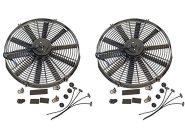 "2 Sets Electric 14"" Straight Blade Reversible Cooling Fan 12V 1900 CFM"