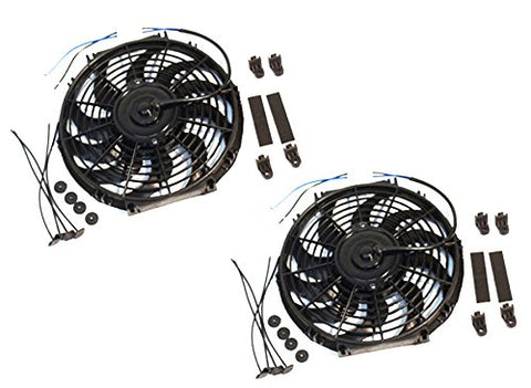 "DUAL 14"" BRAND NEW HEAVY DUTY RADIATOR ELECTRIC FAN 2200 CFM REVERSIBLE SBC BBC"