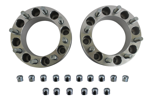 "2Pcs 1"" Wheel Spacers Adapters 8X6.5 To 8X6.5 9/16 Studs 25mm Dodge Ford"