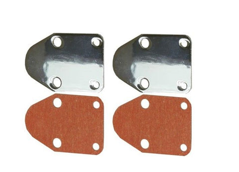 Chrome Fuel Pump Block-Off Plate For SBC 283 305 327 350 383 400 SB Chevy