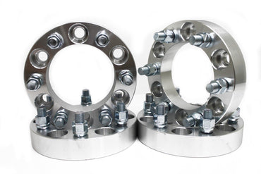"2 pairs 1.5"" Wheel Spacers 6x5.5 To 6x5.5 (6X139.7) 108MM CB 14X1.5 Studs"