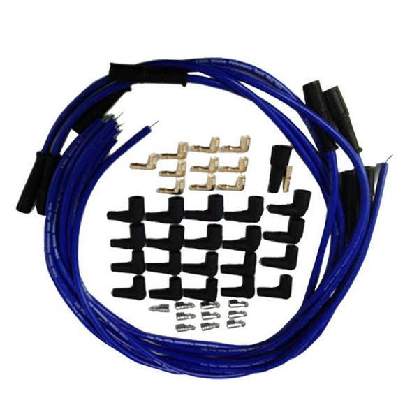 9.5 mm Blue Straight Spark Plug Wires Distributor HEI For Chevy BBC SBC SBF 302 350