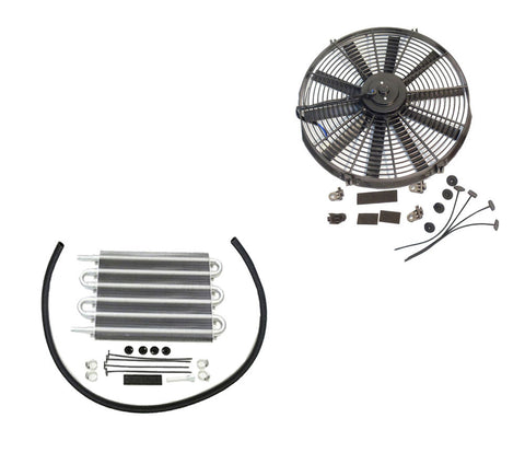 "Electric 10"" straight blade cooling radiator fan &Transmission Oil Cooler"