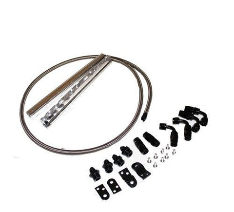 GM Chevy Billet Aluminun LS1 LS6 Intake Fuel Rails Kit Chrome