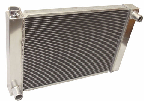 "For Ford / Mopar Fabricated Aluminum Radiator Overall Size 25"" x 19"" x3"""