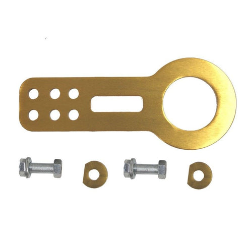Billet Aluminum Racing Front Tow Towing Hook Kit CNC Paint GOLD