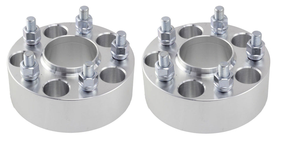 "2Pcs 2"" Wheel Spacers Adapters 5x4.5 to 5x5 Jeep Jk Wheels On Tj Yj Hub Centric"