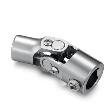 "1"" DD x 3/4"" Round Single Universal Steering Shaft U Joint-Stainless Steel, Total Length 96mm (3-3/4"")"