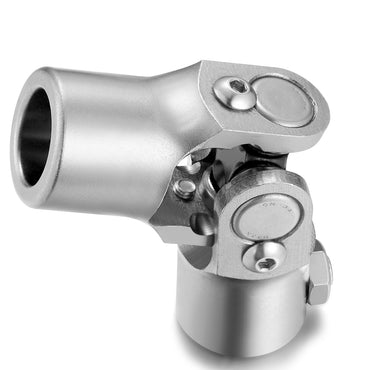 "5/8""-36 Spline x 3/4"" Round Single Universal Steering Shaft U Joint-Stainless Steel, Total Length 96mm (3-3/4"")"