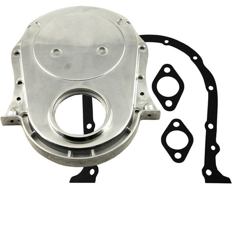 Chevy BBC timing chain cover & Double Roller 9 Keyway Billet Steel Timing Chain Kit