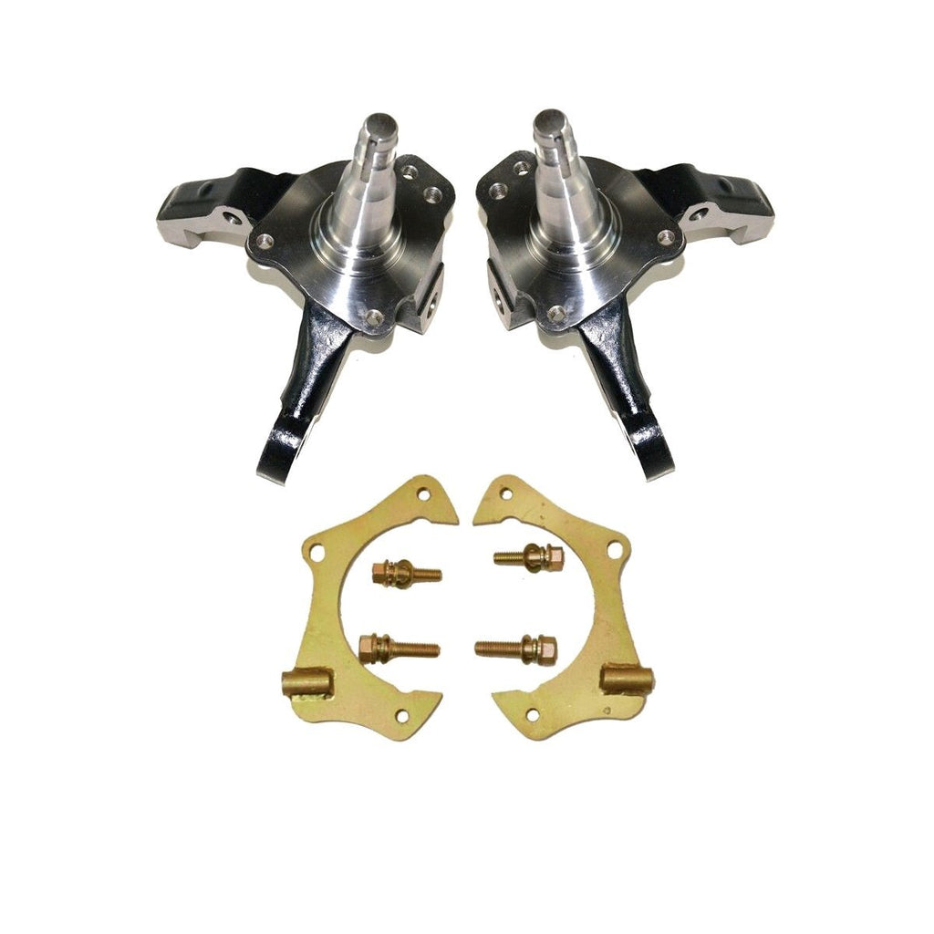 "1974-1978 Ford Mustang 2 II Spindles Pinto Stock Height pair (left and right) & 11"" Caliper Bracket Kit"