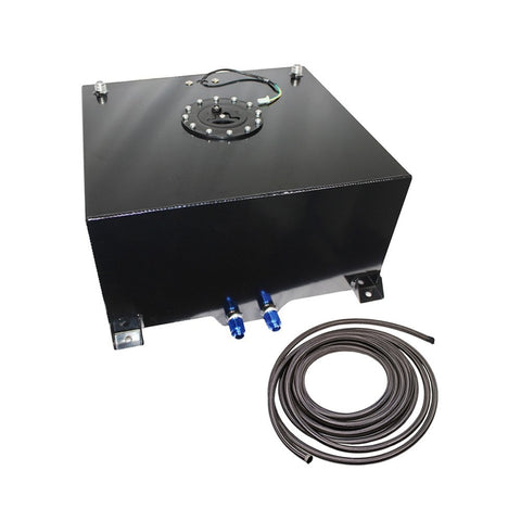 10 Gallon OEM Fuel Cell Gas Tank (Black)+ 20 Feet 10-AN Braided Oil Fuel Gas Line