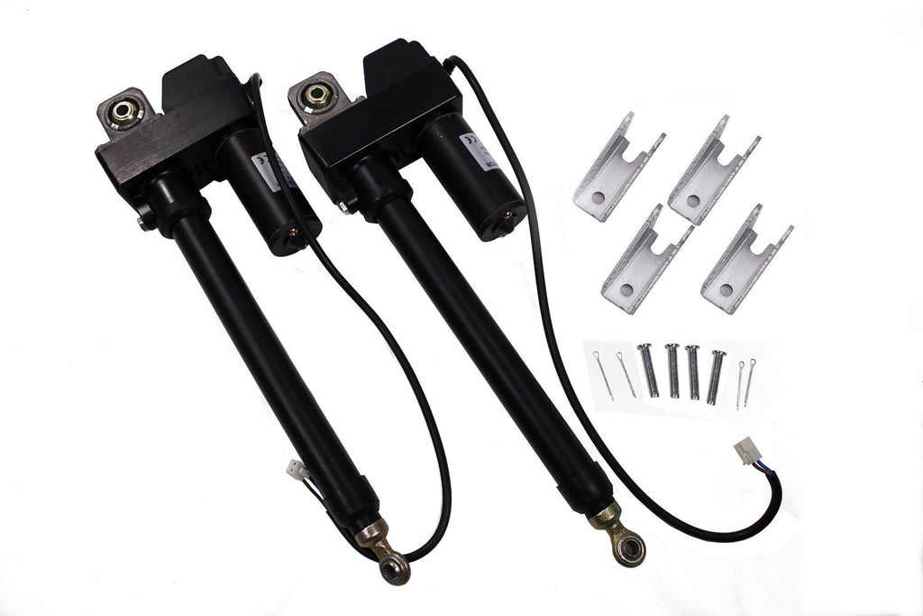 2 pcs High Performance Linear Actuator 6 Inch Stroke 225lb Max Lift Output 12-Volt DC with Mounting Brackets