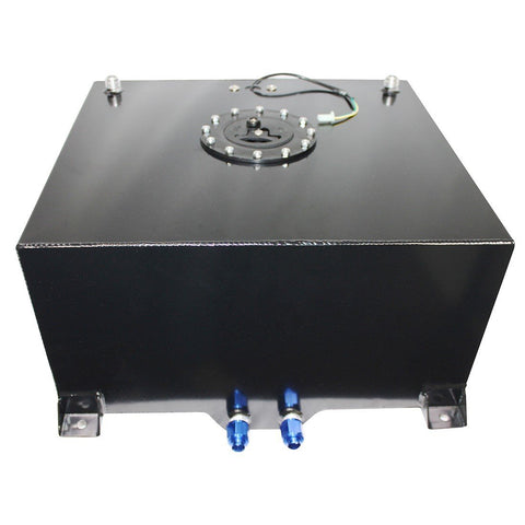 15 Gallon OEM Fuel Cell Gas Tank (Black) + 20 Feet 10-AN Braided Oil Fuel Gas Line