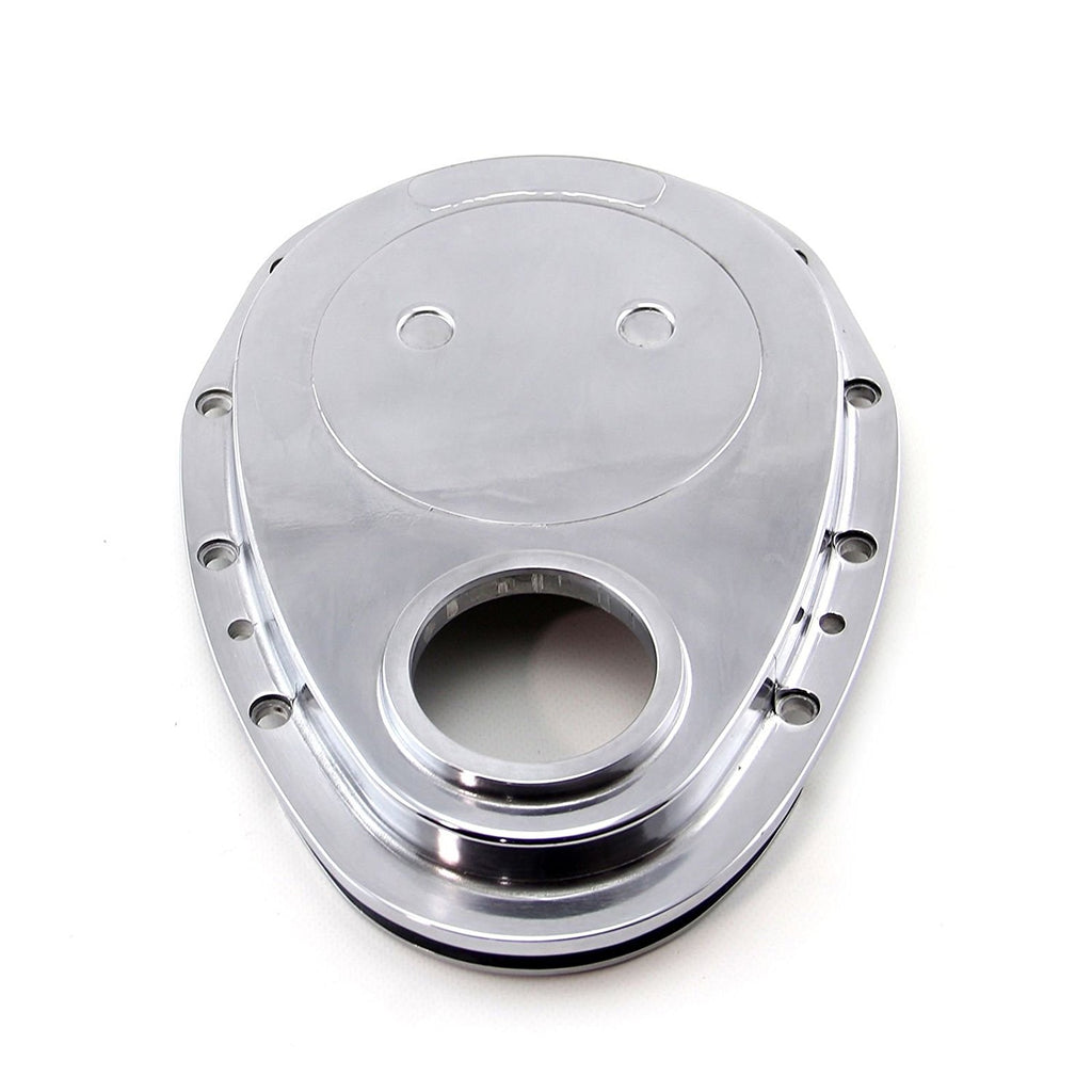 Small Block Chevy Polished Aluminum Timing Chain Cover 283 305 327 350 SBC
